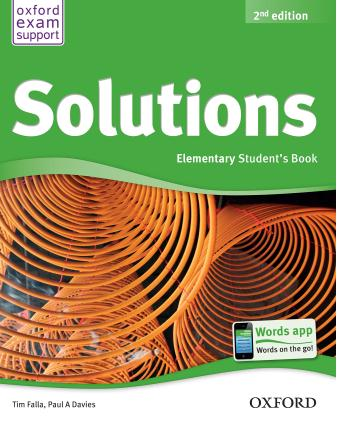 Solutions Elementary Student is Book